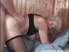 Stockings mature is into the doggystyle fuck tubes