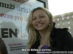 Czecj streets - Ilona takes cash for public sex tubes
