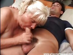Thick dick for slutty old lady to suck on tubes