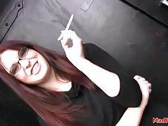 Schoolgirl stripper dances in the club tubes