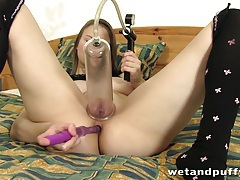 Horny Beata gets off tubes