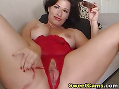 Busty Strokes her Pussy and Reaches Orgasm HD tubes