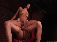 Her soaking wet cunt takes a hard pounding tubes