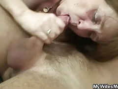 Old vagina looks tight as he fucks it hard tubes