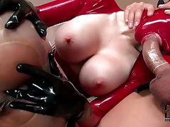 Kinky latex sex with condom blowjob tubes