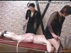 Tied down and whipped over the ass and back tubes