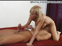 Handjob with a hot pussy sitting over his face tubes