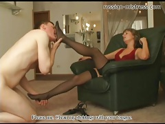 Licking her high heels and sexy toes tubes