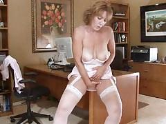 Horny office secretary milf masturbation tubes