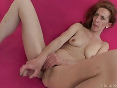Mature pussy needs deep toy penetration tubes