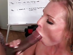 Interracial big cock blowjob and a facial tubes