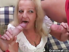 Old lady has a thing for thick dicks tubes
