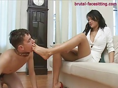 Facesitting with dominant mistress in panties tubes
