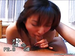 Asian hottie sucking some hard cock here tubes