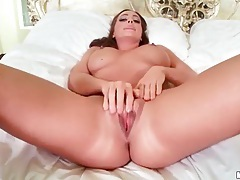 Firm curvy babe with big tits fingers cunt tubes