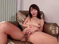 Sweet little Asian in a red thong tubes