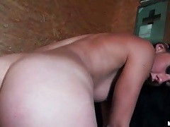 Chick gets naked quick and takes dick in the cunt tubes