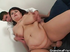 Fat lady is here to service two dicks tubes