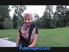 PublicAgent Blonde lesbian takes cock for money tubes