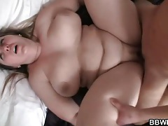 Sexy big girl looks great with shaft in her pussy tubes