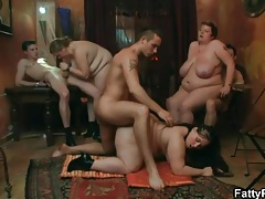 Anal sex in a BBW orgy video tubes