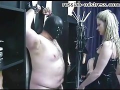 Mistress in latex tempts bound fat guy tubes