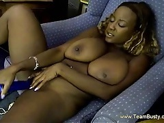 Busty Ebony With Pierced Tongue Licks Her Tits tubes