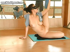 Busty ballet dancer models her hot body tubes
