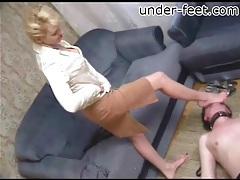 White blouse on hot babe trampling him tubes