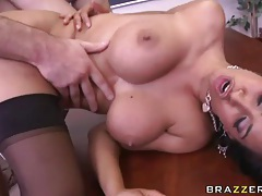 Dick does teacher Isis Love bent over desk tubes