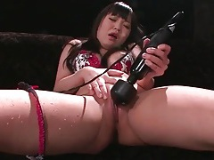 Toys up the ass and pussy make her squirt tubes