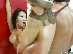 Horny Asian Asa Akira fucked in bathroom tubes