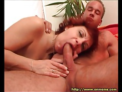 Mature slut rides dick with her bald box tubes