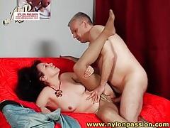 Old man in pantyhose fucks mature slut tubes