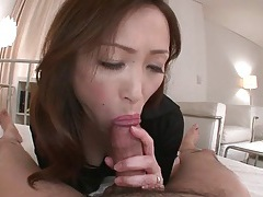 Pretty girl licks all over his dick and balls tubes