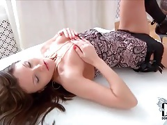 Solo beauty in high heels teases with the pussy tubes