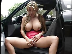 Asian with incredible tits flashes outdoors tubes