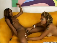 Black girls get naked fast and play with wet pussy tubes