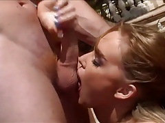 Tongue kissing and ass fucking outdoors by pool tubes