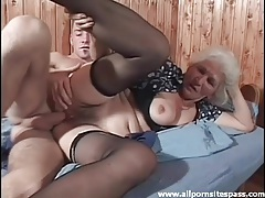 Hairy granny in stockings fucked hardcore tubes