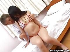 Bikini striptease and rubdown for Japanese girl tubes