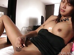 Her shemale tits and cock are sexy in the nude tubes