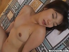 Wet Japanese vagina filled with stiff dick tubes