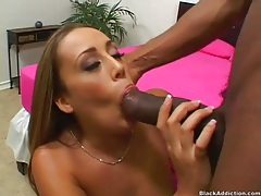 White girl pulls off panties to get fucked by BBC tubes