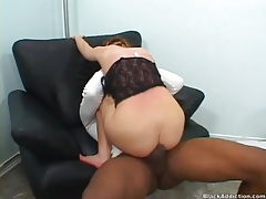 His ebony thickness fucks a hot white slut tubes