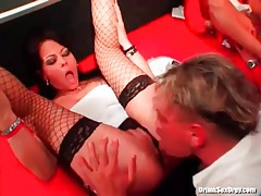 Classy club party features interracial fucking tubes