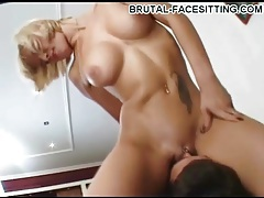Great tits on girl that sits on his face tubes
