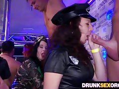 Drunk cock hungry chicks in costumes tubes