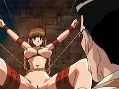 Rough sex and hentai play in the dungeon tubes