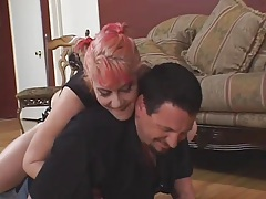 Dominant girl humiliates husband as she cuckolds him tubes